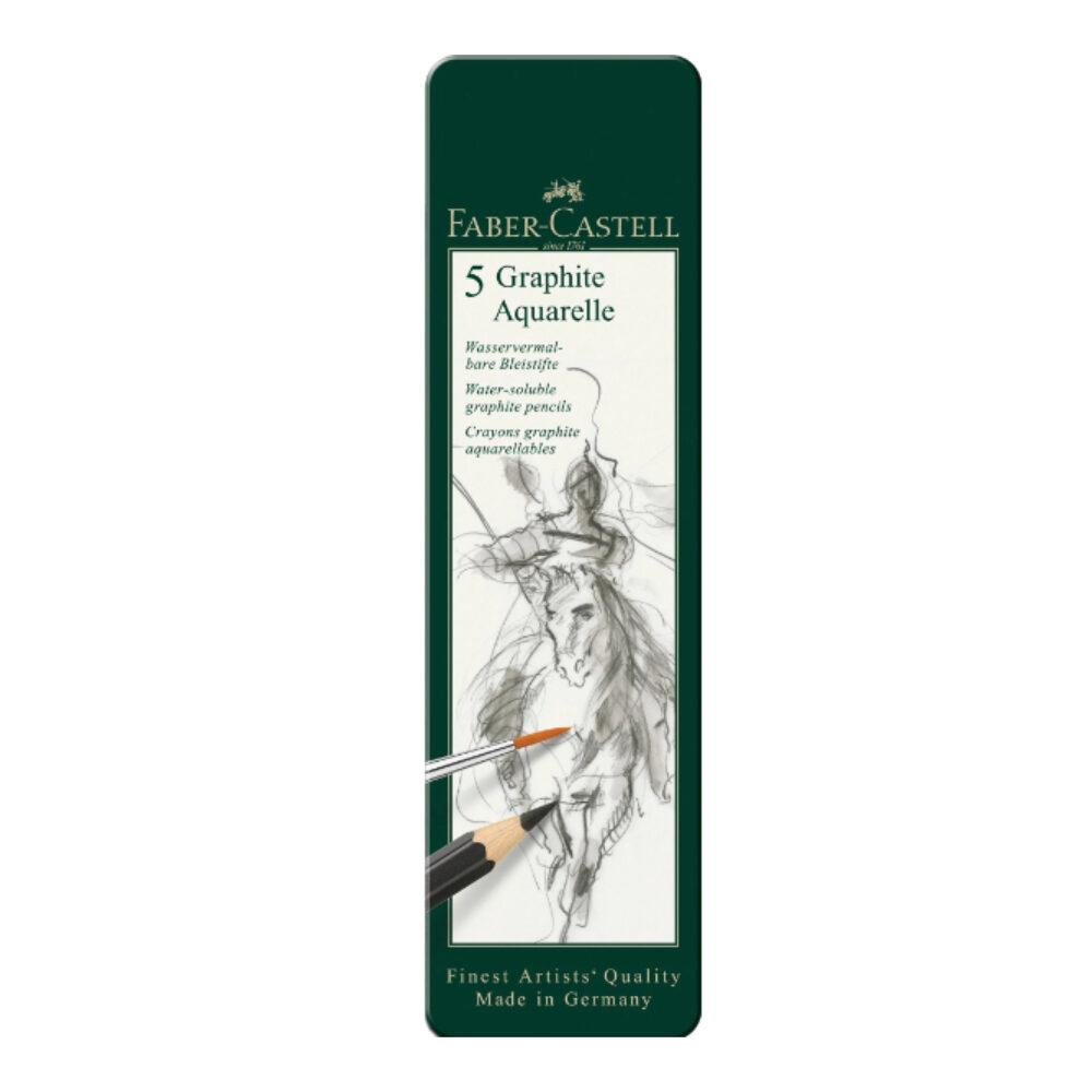 Graphite Aquarelle pencil tin of 5