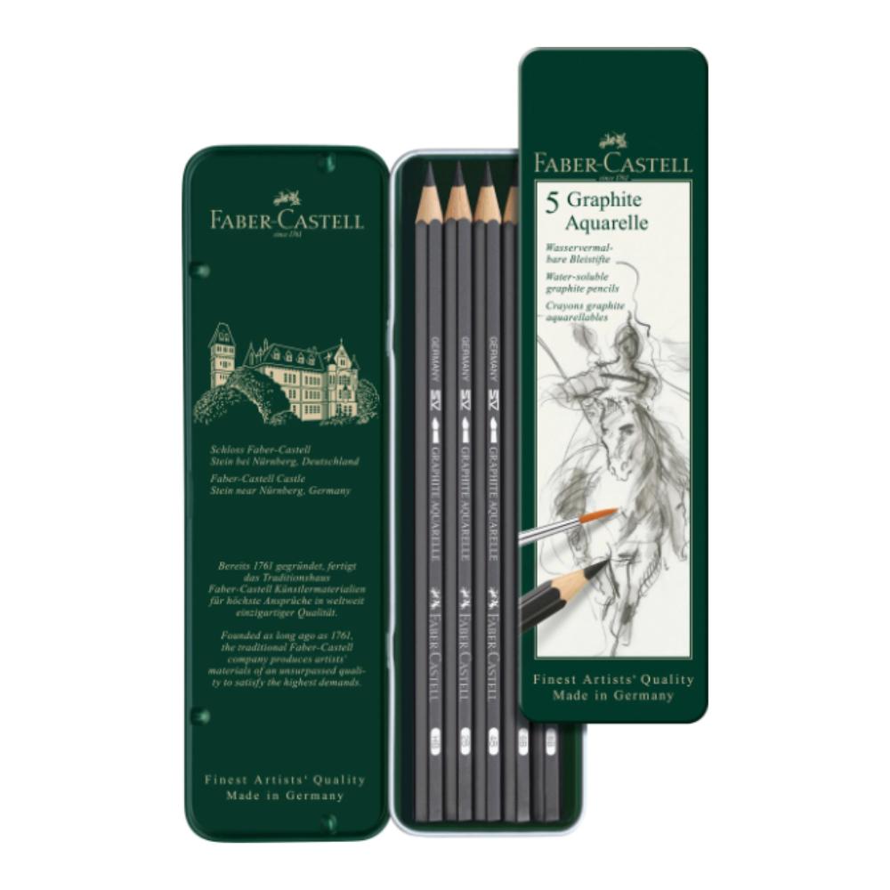 Graphite Aquarelle pencil tin of 5 2