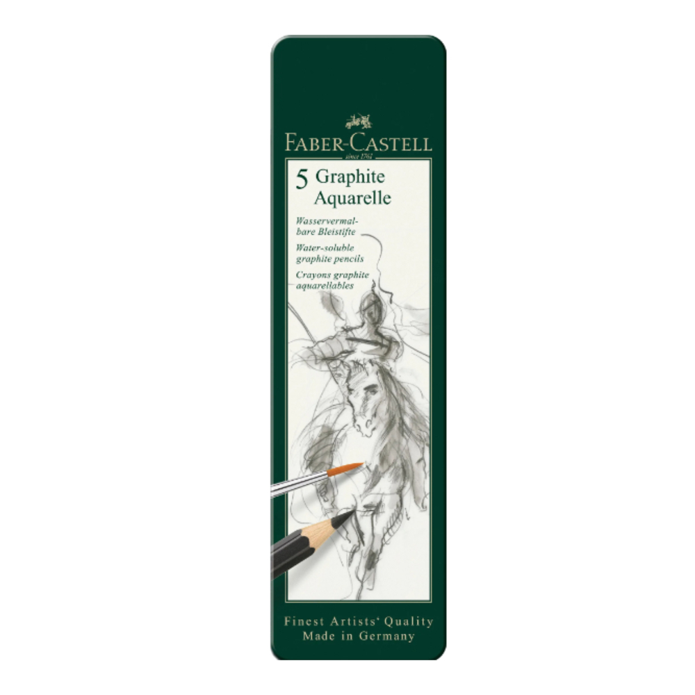 Graphite Aquarelle pencil, tin of 5