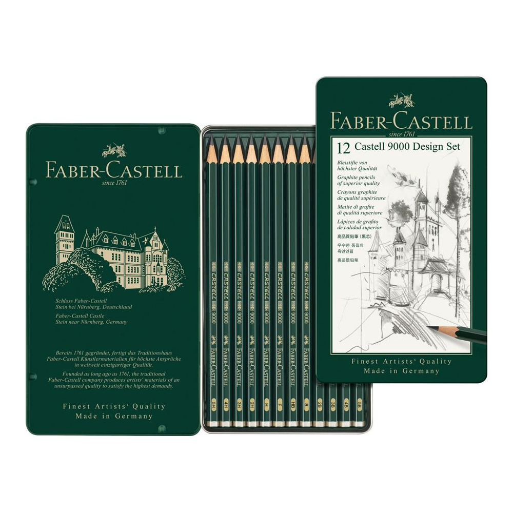 Castell 9000 graphite pencil Design Set tin of 12