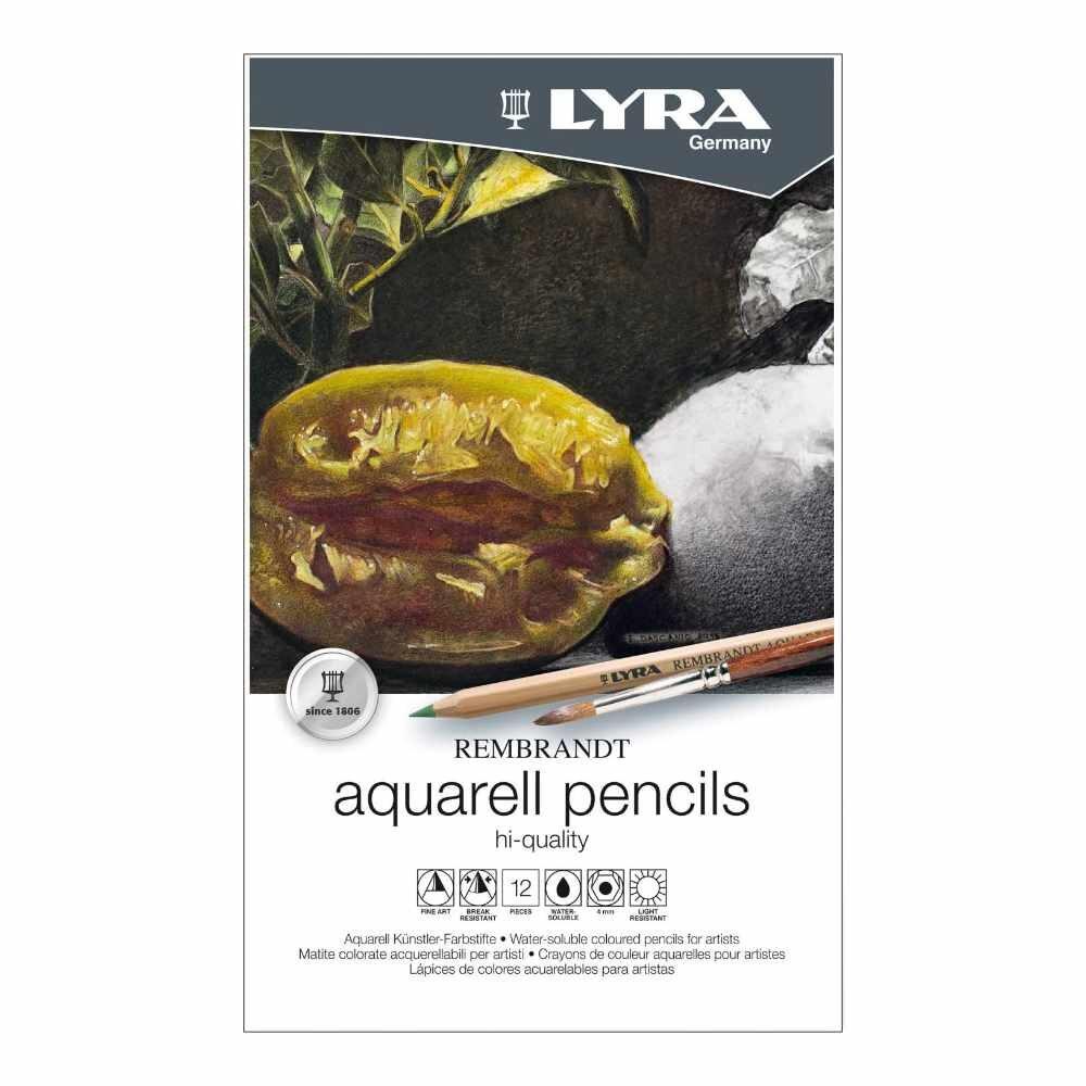LYRA Rembrandt Aquarell Artists' Colored Pencils, Set of 12 Pencils