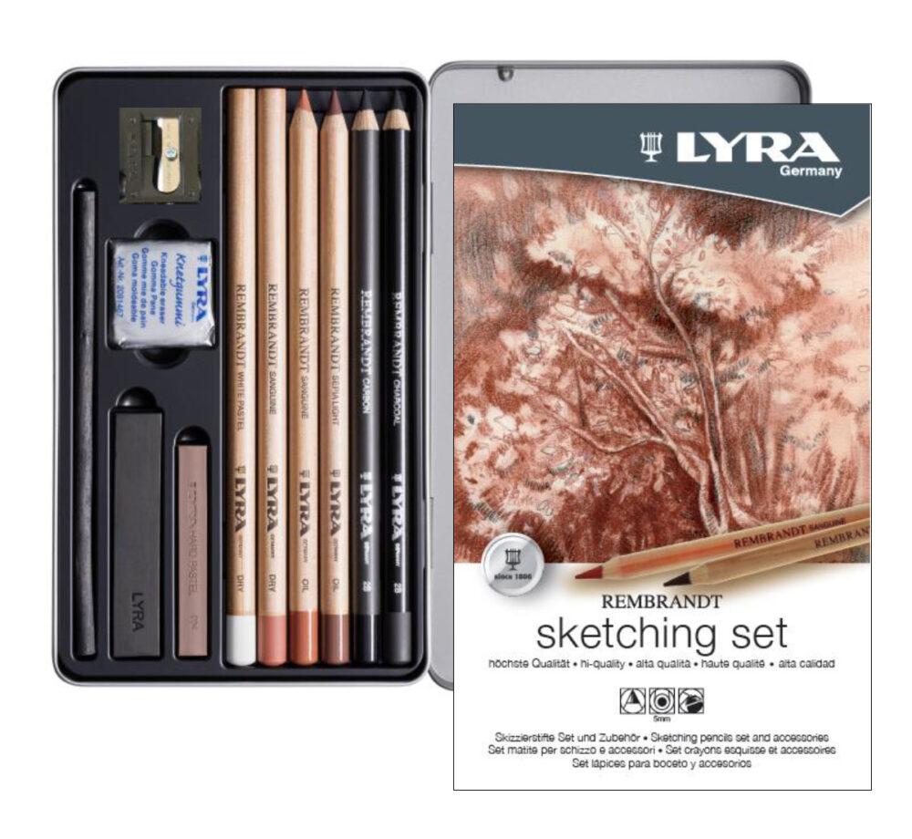 lyra sketching set 11 pieces e1607257476885
